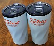 2 New Titleist Drink Insulated Tumblers Mug W/lid 16 Ounce Limited Tumbler