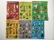 Lego Collectable Minifigures Series 3 7 9 12 17 21 Manual Posters X6