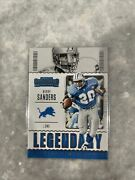 2020 Panini Contenders Barry Sanders Legendary Lions Hof Rare Sold Out You Pick