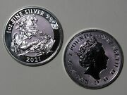 2021 Great Britain Andpound2 Valiant - 1 Oz 9999 Silver - St George And The Dragon