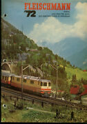 Fleischmann Ho And N-scale Electric Trains And Motor Racing Catalog 1972