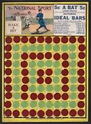 1910 Ideal Bars Vintage Candy Store Display Cardboard Sign Great Graphics