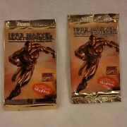 🔥two1993 Skybox Marvel Masterpieces Factory Sealed Trading Card Packs -iron Man