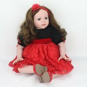 24and039and039 Toddler Reborn Doll 60cm Big Girl Soft Vinyl Lovely Long Hair Babies Toys