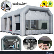 39x20x13ft Sewinfla Large Inflatable Paint Booth With 750w+1500w Blowers Us