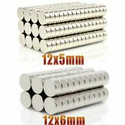 Neodymium Magnet 12x5 12x6mm Powerful Strong Round Disc Magnets N35 Rare Earth