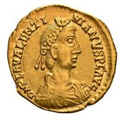 Late Roman Gold Solidus Of Emperor Valentinian Iii Rome Mint 440 - 450 Ad