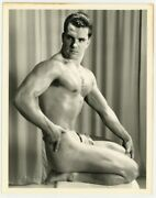 Gay Physique Beefcake Hunk Photo 1950 Western Photography Guild Ray Royal Q7033