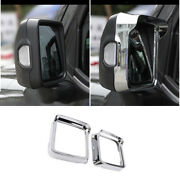 Rear View Side Door Mirror Frame Cover Abs Chrome For Jeep Wrangler Jl 2018-2020