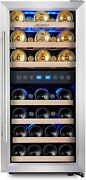 Dual Zone Wine Cooler - 33 Bottle Free Standing Compressor Red/white Zones