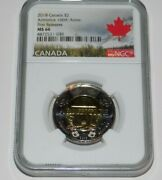 Canada 2018 2 Ngc Ms66 Armistice 100th Anniversary 1st Release Toonie Coin