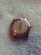 L👀k Vintage Omega Seamaster Yellow Gold Automatic Menand039s Watch No Band Works