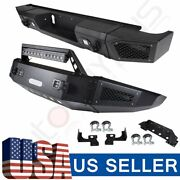 Textured Rear Front Bumper Steel W Led Lights For Chevrolet Silverado 2500 15-17