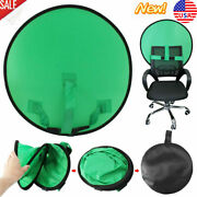Round Pop Up Chair Green Screen Backdrop Photography Background Video Photo 75cm