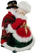 Vtg Musical Dancing Mr. And Mrs. Santa Claus Christmas Figurine 10 Not Tested