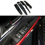 Carbon Fiber Window Lift Glass Control Panel Replacement For 18-21 Toyota Camry