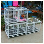 Dog Cage Teddy Cat Three-layer Pet Breeding Fence Running Bed Small Large Double