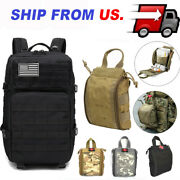 Outdoor Hiking Backpack Tactical Molle Rip Emt Ifak Medical Pouch First Aid Kit
