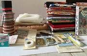 Fabric Lot Mixed Print Quilting Crafting Sewing Christmas Elvis Vintage To Now