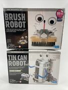 Tin Can Robot And Robot Brush Science Building Kit Toy Age 8 + New