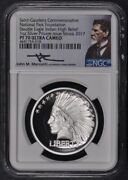 2017 1oz Silver Double Eagle Indian High Relief Ngc Pf70 Uc Pvt Issue