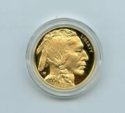 2007-w 50 Proof American Gold Buffalo 1 Oz. .9999 Gold Coin With Box And Coa
