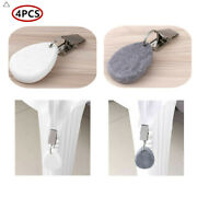 4 Tablecloth Weights Teardrop Stone Metal Holder Clip Buckle Hanging Table Decor