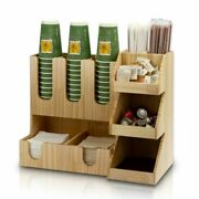 Wood-made Restaurant Bar Counter Beverage Cup Rack Firm Wooden Disposable Cup