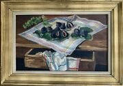 Maurice Georges Poncelet Mulhouse 1897-1978 Hst Rare Nature Morte Aux Figues