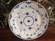 Royal Copenhagen Fluted - Full Lace - Dining Plate Andoslash 10 5/8in/full Lace