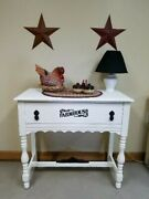 Newly Refinished Farmhouse Accent Table With Drawer 32l X 14.5w X 30t