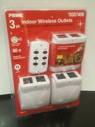 Prime Indoor Wireless Outlets W/ Remote Control 3 Pack 0357408 Hlrc23pk