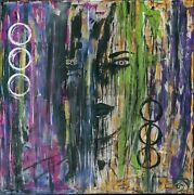 Original Abstract Painting By Slashy D Colorful Womanand039s Face Painting