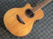 Yamaha Apx700 Acoustic/electric Guitar Left Handed Lefty,lh W/gigbag