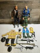 Lot Of 2 Gi Joe 12 Action Figures W/ Clothes And Accessories Bomber 1996 Hasbro