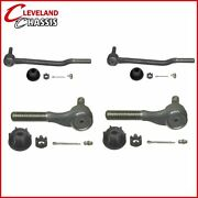 4 Pc Kit 2 Inner 2 Outer Tie Rod Ends 71-74 Ford Mustang Cougar Torino Ranchero