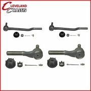4 Pc 2 Inner 2 Outer Tie Rod Ends 71-74 Ford Mustang Cougar Torino Ranchero