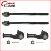 4 Pc Front Inner And Outer Tie Rod Ends Mazda Miata W/manual Steering