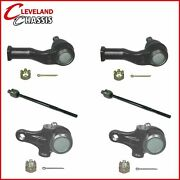 Front 2 Lower Ball Joints And 4 Tie Rod Ends Mazda Miata Mx5 W/manual Steering