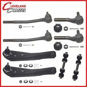 8 Pc Control Arm Lower Tie Rod Ends Sway Bar Link Ford Mustang Cougar 71-73 Moog