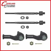 4 Pc Kit Front Inner And Outer Tie Rod Mazda Miata W/ Power Steering