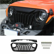 For Jeep Wrangler Jl 2018 2019-2020 Black Front Grille Grill Cover Decoration