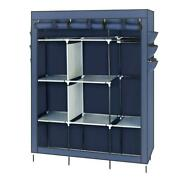 Easy To Assemble Non-woven Clothes Hanging Locker Wardrobe Cabinet Shelf