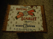R C Williams And Co Spices White Pepper Bulk Box For Display With Paper Label Ny