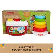 Fisher-price Babyand039s First Blocks And Rock-a-stack Plant-based Toys