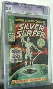 Silver Surfer 1august 1968cgc 8.0 Marvel Comic Cents Copy Off White/white Pg
