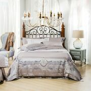 Silk Satin Cotton Embroidery Duver Cover Bed Sheet Bedding Set Bed Set Pillow