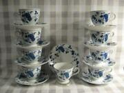 Royal Meissen Fine China Of Japan Footed Cups And Saucers - Nine Sets