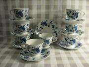 Royal Meissen Fine China Of Japan Footed Cups And Saucers - Eight Sets