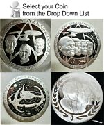 Franklin Mint Star Trek Pewter And Silver Medallion Collection-u Pick Your Choice